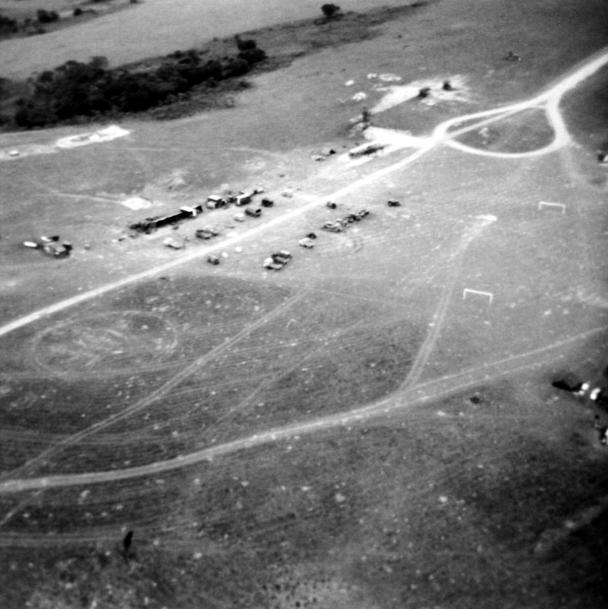 REME Workshop Area from the air Malawi 1972