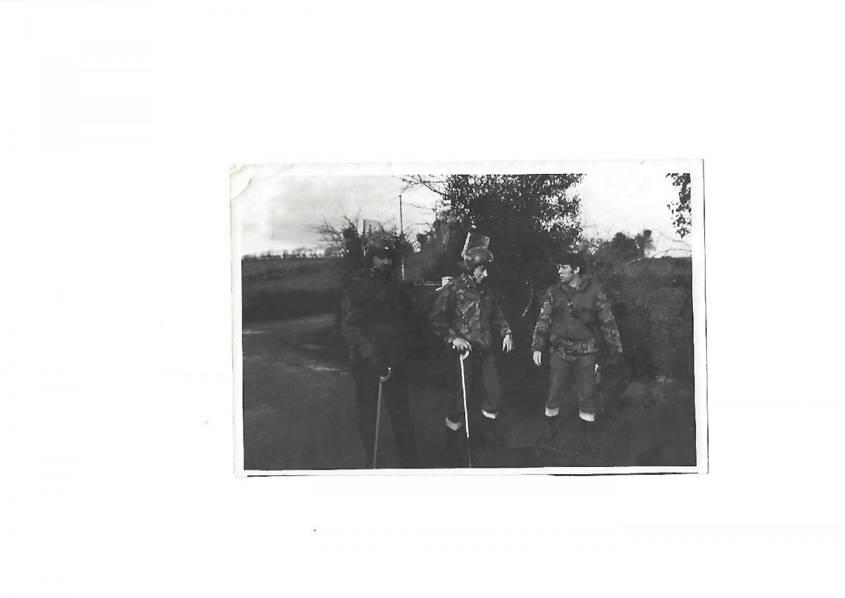 Me , Dixie Dean and Cpl robbo Robinson.