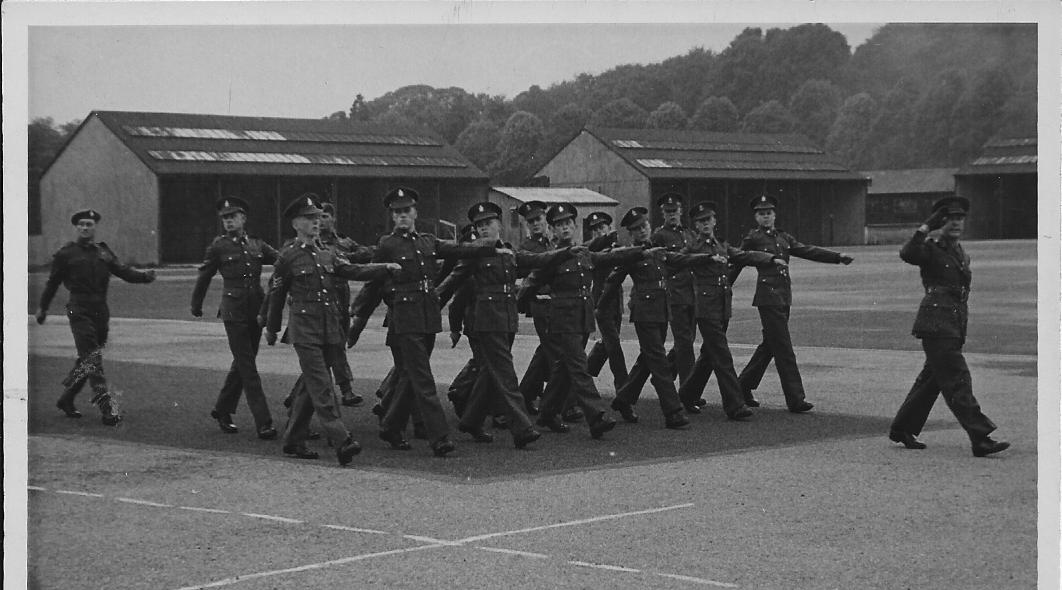 47A Group On Parade Scene 1948