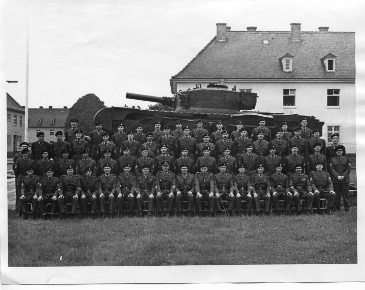 HQ. 32 Armd Engr Regt's  CO and senior NCO's.  1968-9      Photo - Jaaa
