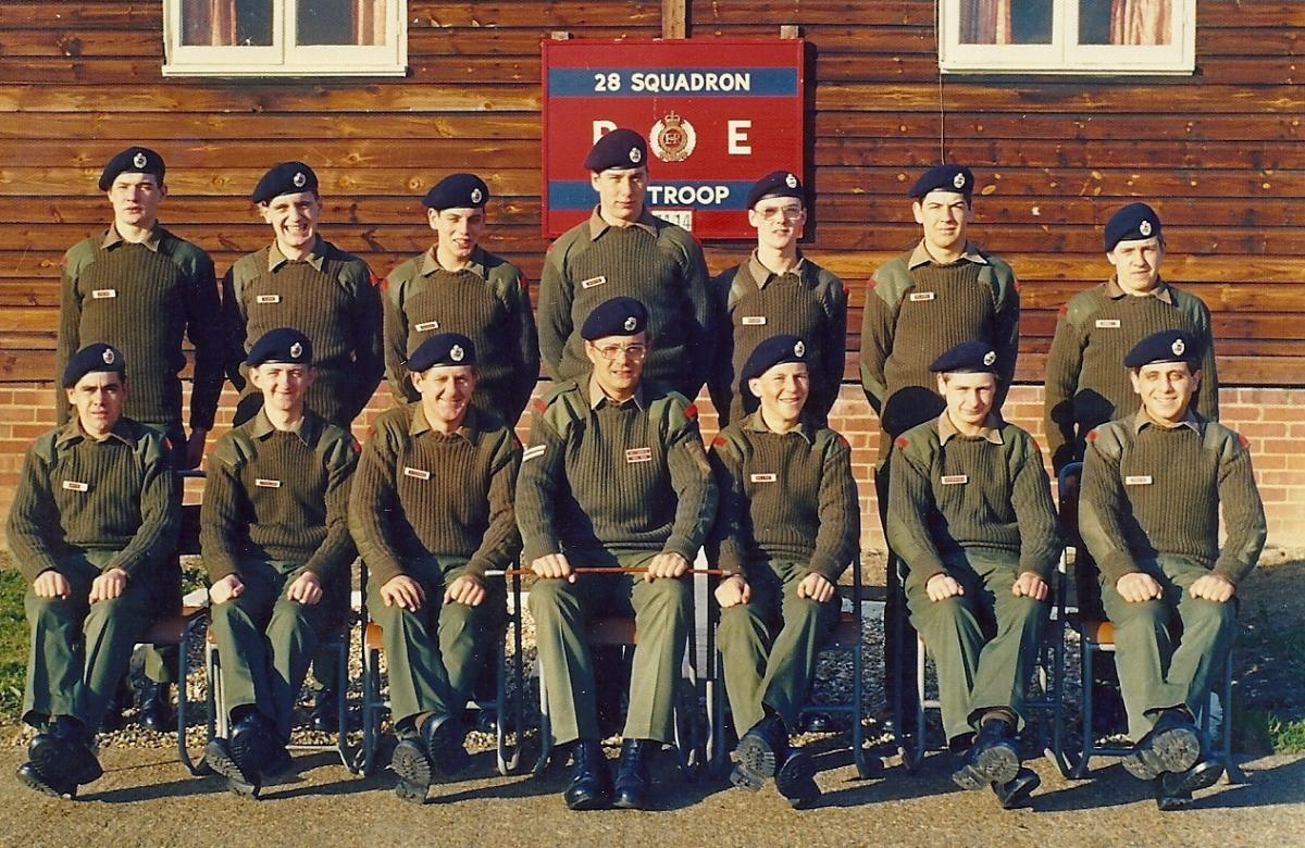 74/14 training troop 1 Trg Regt RE (posted by A McLaren)