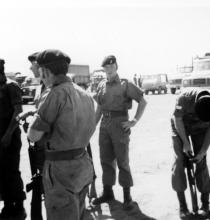 CPL Allan Scahill RAOC - hand on hip. Opening of Nyika Road Malawi 1972