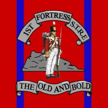 1st Fortress STRE Emblem  Corps Pride Graphics Re Royal Engineers Sappers Gibraltar