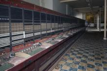 Underground telephone exchange, perfectly preserved