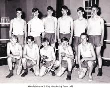 AAColl Chepstow B Wing J Coy Boxing Team 1968