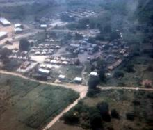 Camp for Force Anguilla from the air, August 1970 to March 1971 BFPO 643
