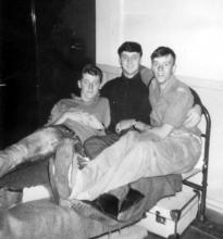 Barrack room Cove 1966 Dave Addy, Jimmy Donohoe and Roger Smart