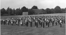 Hohne- Garrison mass-band during rehearsal for VIP visitor.   1969..     photo-Jaaa