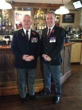Me and Steve after rememberance parade in widnes