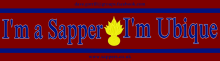 I'm a Sapper I'm Ubique sticker