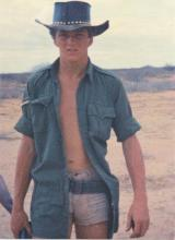 Ken Paviour at Kenyan/Ethiopian border 1974