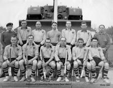 Members of 32 Armd Engr Regt's Hockey Team.   1968-9      Photo - Jaaa