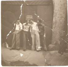 Pete Roberts, Baz Round, Doc Holliday & Steve Stockdale near the Green Lantern 1970s