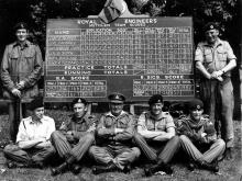 Royal Engineers Corps Winning shooting team. - 1971