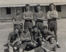 Aden early 1960s Tug-o-war Team RE 33Sqn