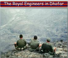 2 troop 48 Field Sqn. Working on the Hornbeam line. Dhofar 1974